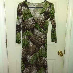 Ann Taylor Loft Dress With a Fall Design  NWOT